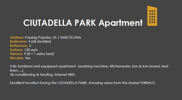ciutadella park apartment