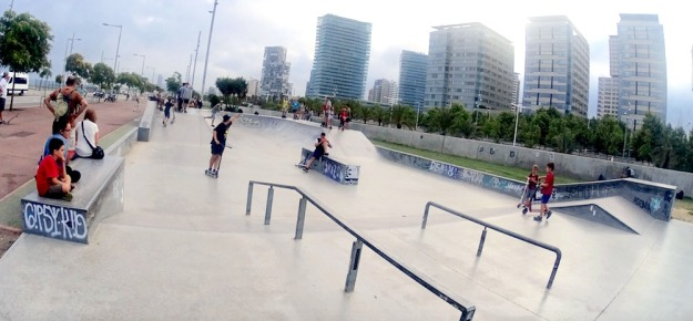 best top places spots for skate skating skateboarding in barcelona forum skatepark