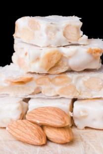Pieces of Turron de Almerndras or Almond Nougat